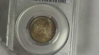 1876 Seated Liberty Quarter Dollar PCGS MS64 Beautifully Toned and Proof Like
