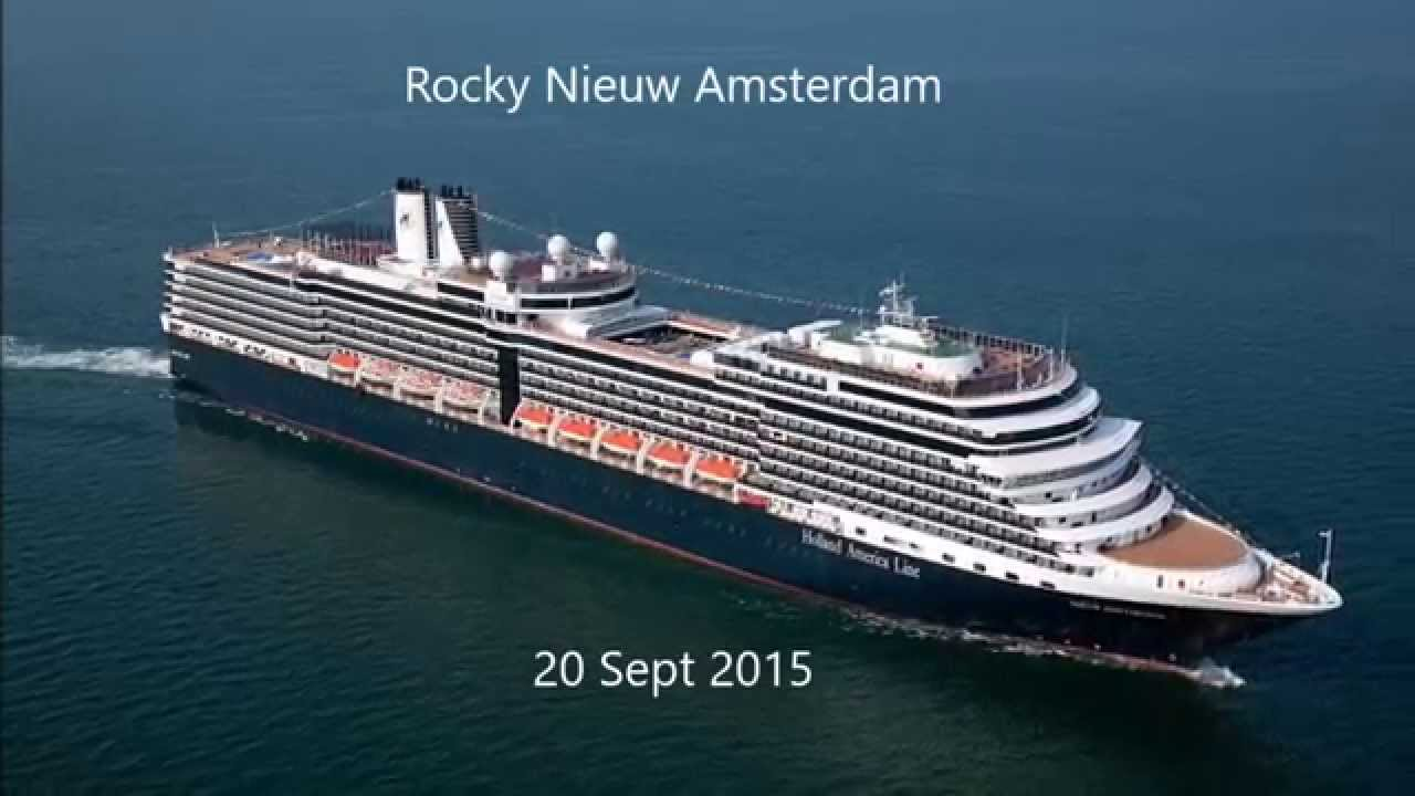 Cruise Ship Ms Nieuw Amsterdam Tilts Extremely Youtube