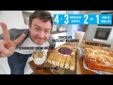 4 x 3 Ingredient recipes 2 try 1 time in your life! Part 2