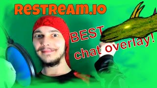 Best live streaming chat overlay Restream.io chat review 2018