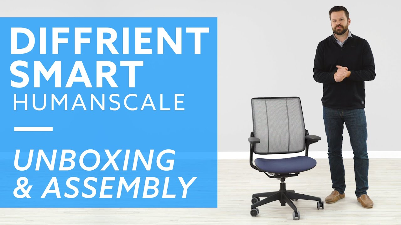 Diffrient Smart Chair Office Bar Stool Chairs Humanscale Unboxing And Assembly Guide Youtube