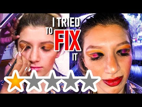 I WENT TO THE WORST REVIEWED MAKEUP ARTIST IN MY CITY and i tried to fix it thumbnail