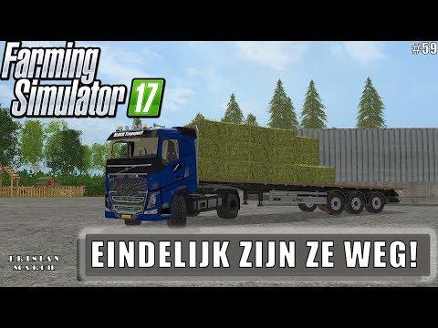 """""""EINDELIJK ZIJN ZE WEG!"""" FarmingSimulator 17 Frisian March #59"""