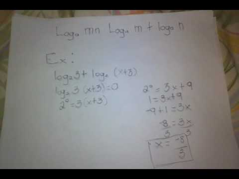 Pedro paterno math tutorials laws of logarithm