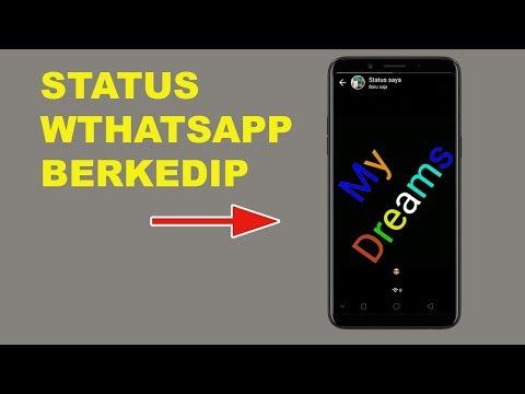 Cara Membuat Status Whatsapp Berkedip - Status WA Jadi Lebih Menarik