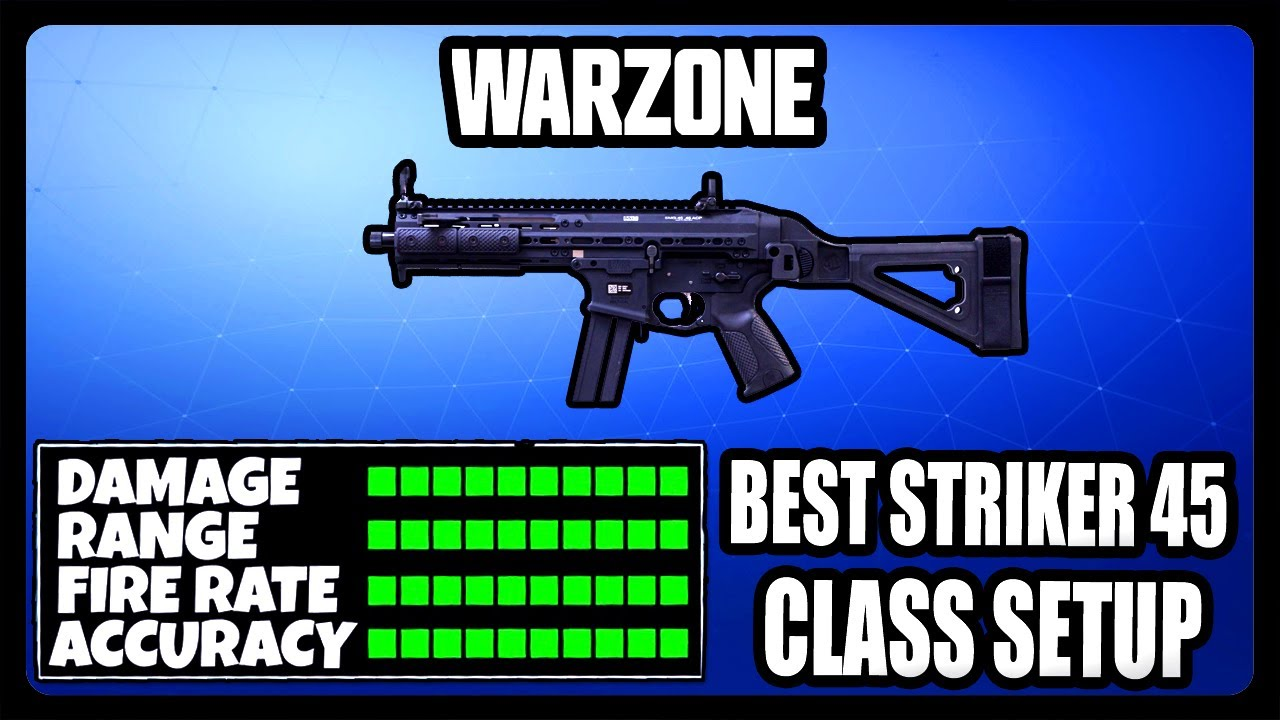 NEW OVERPOWERED STRIKER 45 CLASS SETUP IN WARZONE! BEST STRIKER 45 CLASS SETUP!