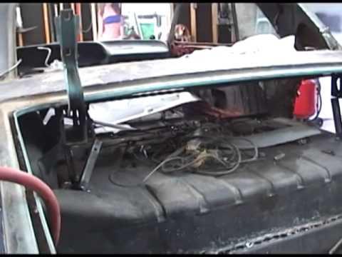 64 Impala Trunk Self Removal Metal Work Youtube