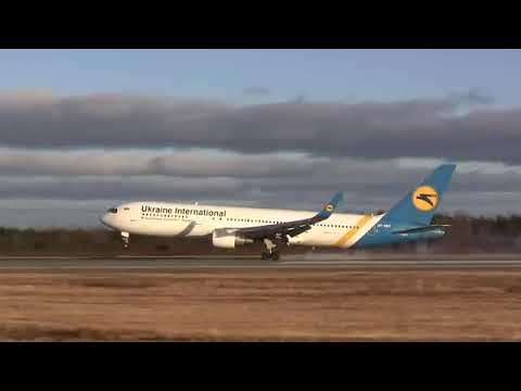 Ukraine International Boeing 767-33A(ER) - Diverted Landing