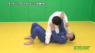ニーオンザベリーからスライディング式腕十字 Arm bar from knee on the belly.