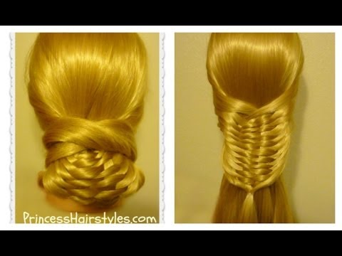 Layered Woven Braid Hair Tutorial Amp Updo Youtube