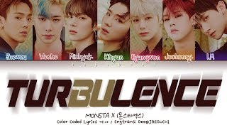 [3.12 MB] MONSTA X (몬스타엑스) - TURBULENCE (난기류) (Color Coded Lyrics Eng/Rom/Han/가사)