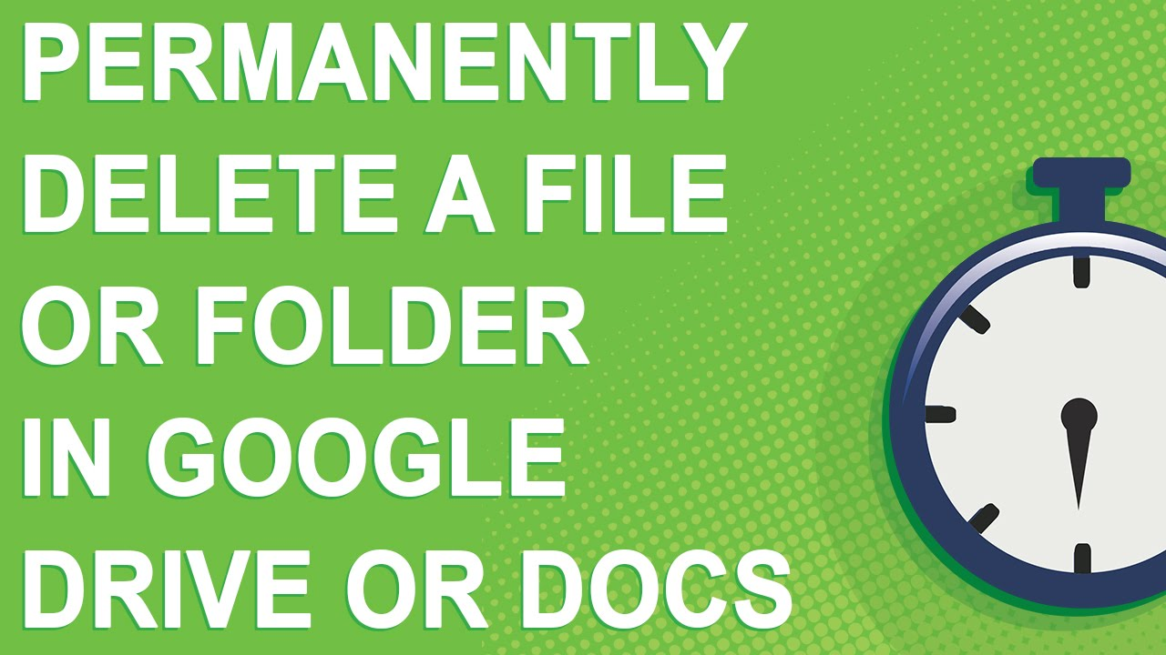Permanently delete a file or folder in Google Drive or Docs (NO YOUTUBE ADS)