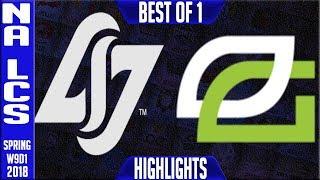 CLG vs OPT Highlights | NA LCS Week 9 Spring 2018 W9D1 | CLG vs Optic Gaming Highlights