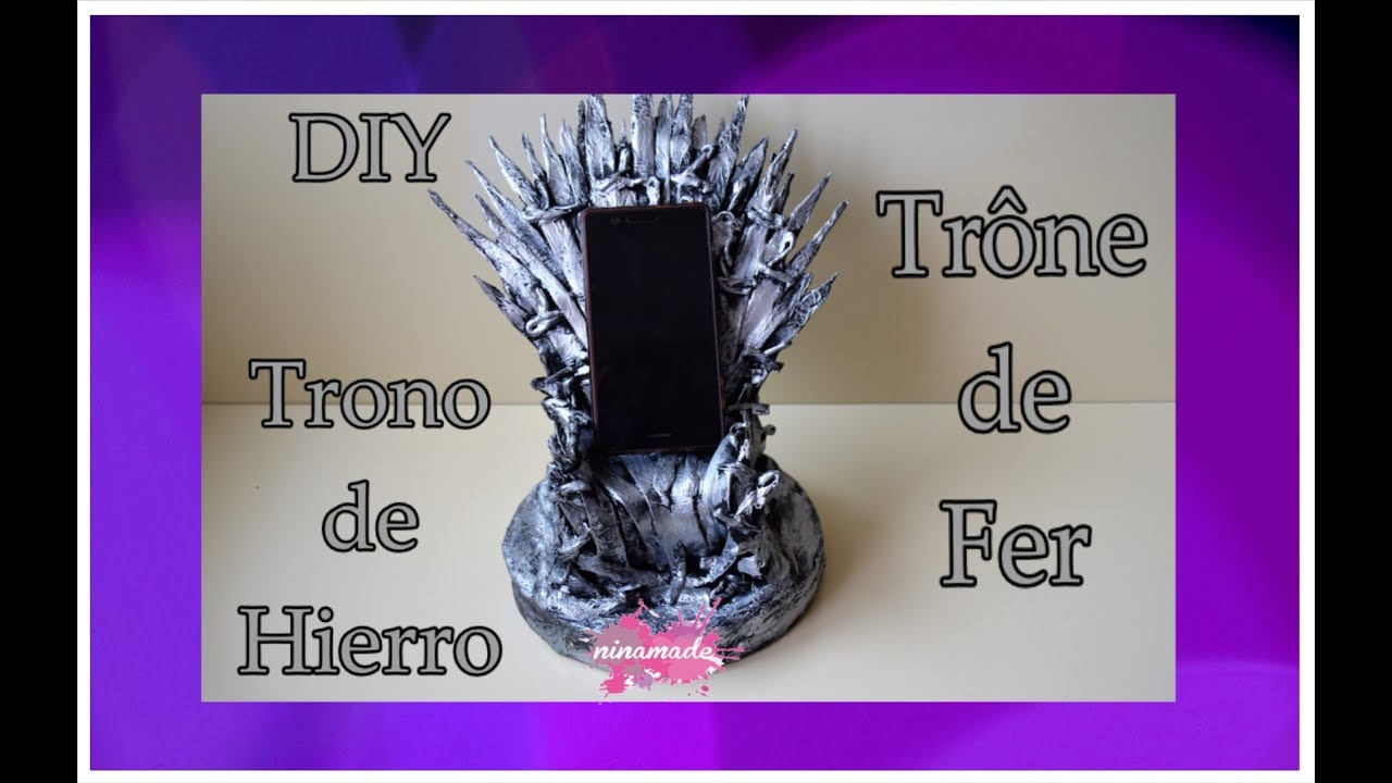diy como hacer el trono de hierro comment faire le tr ne de fer how to make iron throne youtube. Black Bedroom Furniture Sets. Home Design Ideas