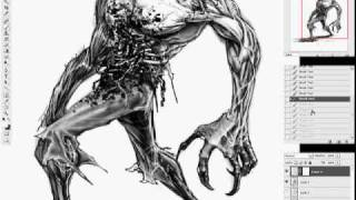 Zombie - Photoshop Speed Drawing | Austen Mengler (2009)