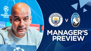 PRESS CONFERENCE | Pep Guardiola | Man City v Atalanta