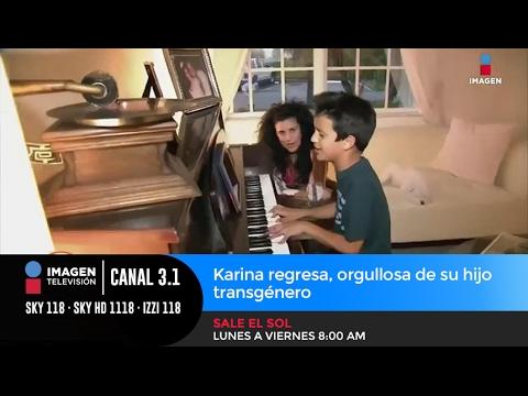 Karina regresa orgullosa de su hijo transg nero youtube for Fuera de karina