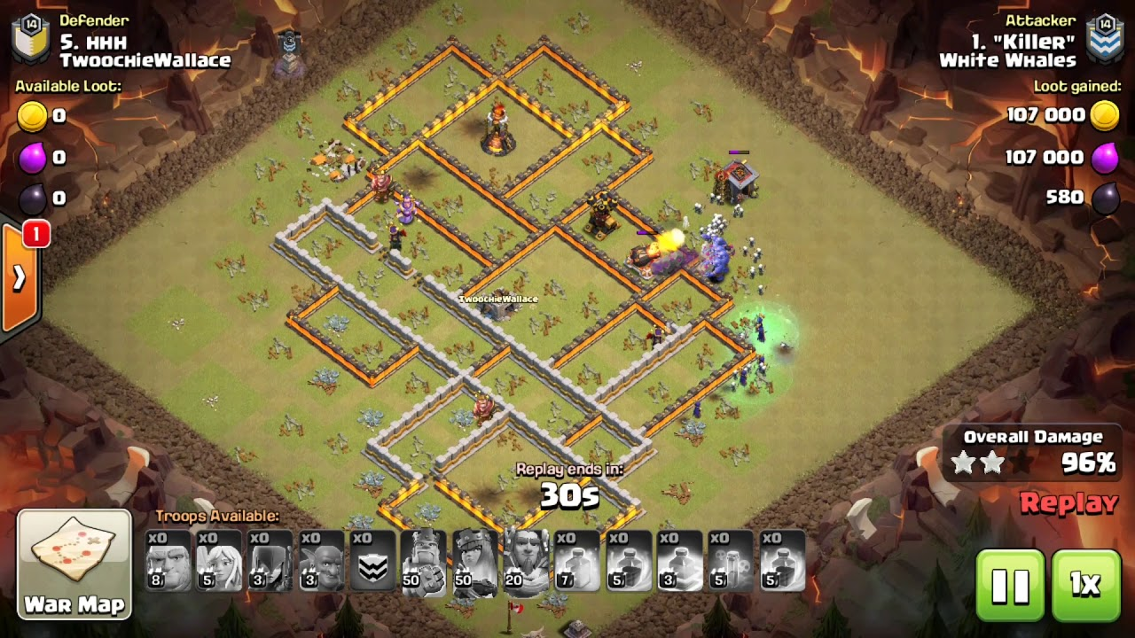 Clash of Clans TH11 Mass Bowlers 3 STAR ATTACK