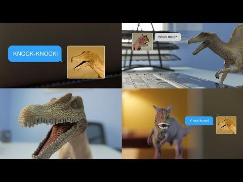 Knock Knock Joke, Dinosaur Style! Weird text messages and dinosaur jokes: Dino-Chat!