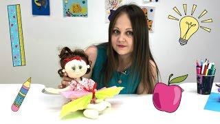 ПОДЕЛКИ своими руками из бумаги. Кукла Фрося и БАБОЧКА.Видео для детей(Детский творческий канал