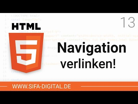 HTML Grundkurs: Navigationsleiste Funktionsfähig Machen #13 (4K)   SIFA Digital