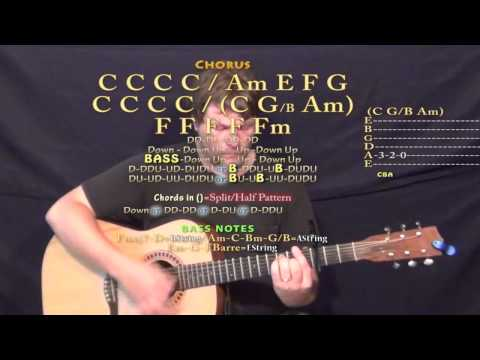 As She's Walking Along (Zac Brown) Guitar Lesson Chord Chart - Capo 3rd