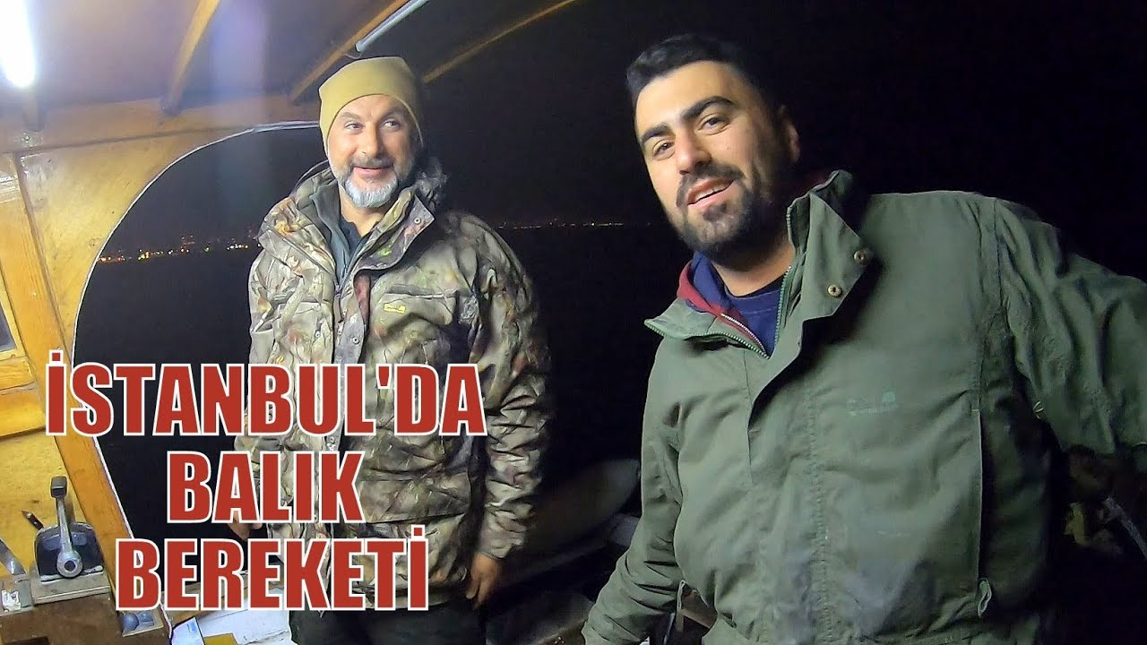 İstanbul'da Çok Bereketli Bir Gece Avı / Bir Kasa Balık Yakaladık !!