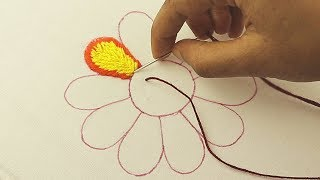 hand embroidery, unique flower embroidery design, cross stitch, buttonhole stitch, french knot