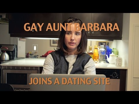 Gay Aunt Barbara Joins A Dating Site
