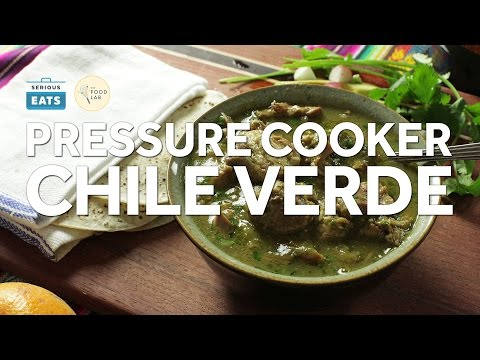 How To Make Pressure Cooker Pork Chile Verde Youtube
