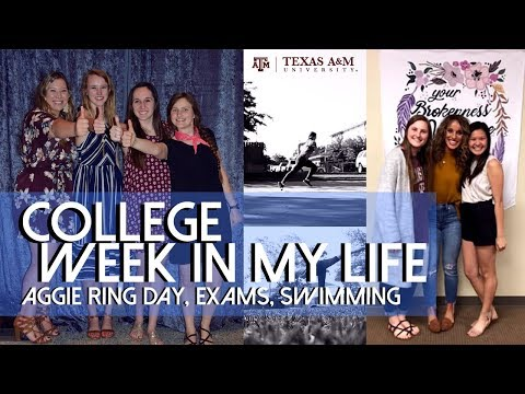 PRODUCTIVE & FUN college week in my life | Texas A&M University