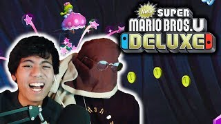 New Super Mario Bros U Deluxe But BLINDFOLDED With A BLANKET...