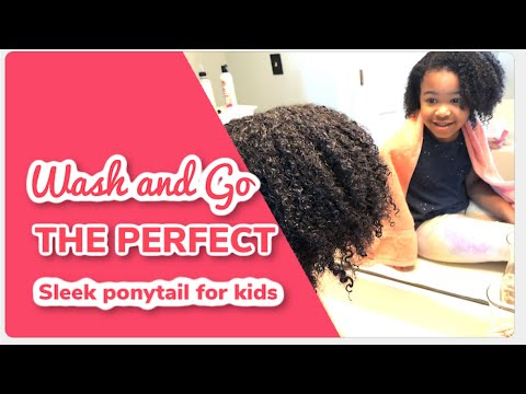 Million dollar Hair Tutorial | wash-n-go sleek ponytail thumbnail