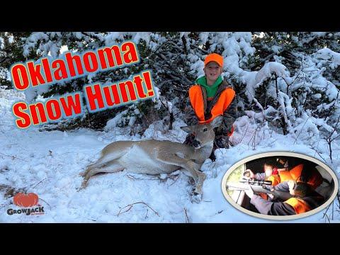 Oklahoma Deer Hunt in the Snow!
