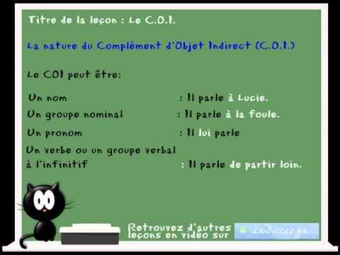cours leçon de francais - complément d'objet direct et ...