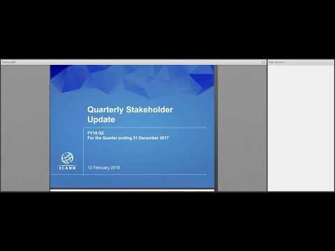 Quarterly Stakeholder Update FY18 Q2