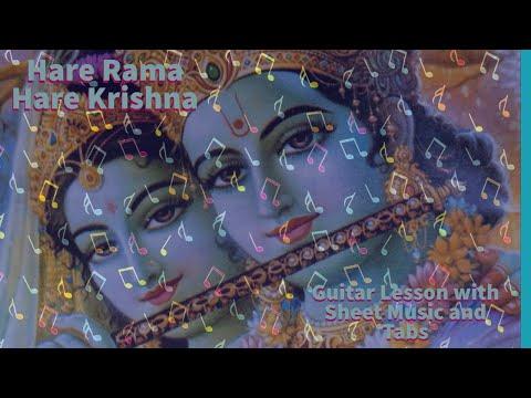 Hare Rama Hare Krishna Guitar Tutorial With Tabs, Sheet Music, Lyrics and Guitar Chords