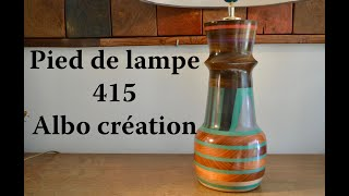 TOURNAGE PIED DE LAMPE EN PADOUK ET IPE. 415