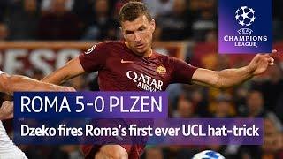 Roma vs Plzen (5-0) UEFA Champions League Highlights