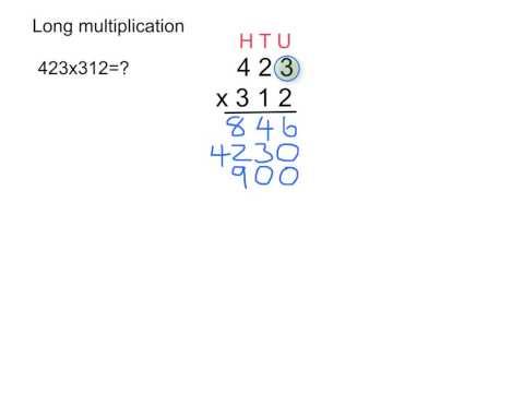 Number Names Worksheets multiplication of three digit numbers : Long multiplication with 3-digit numbers - YouTube