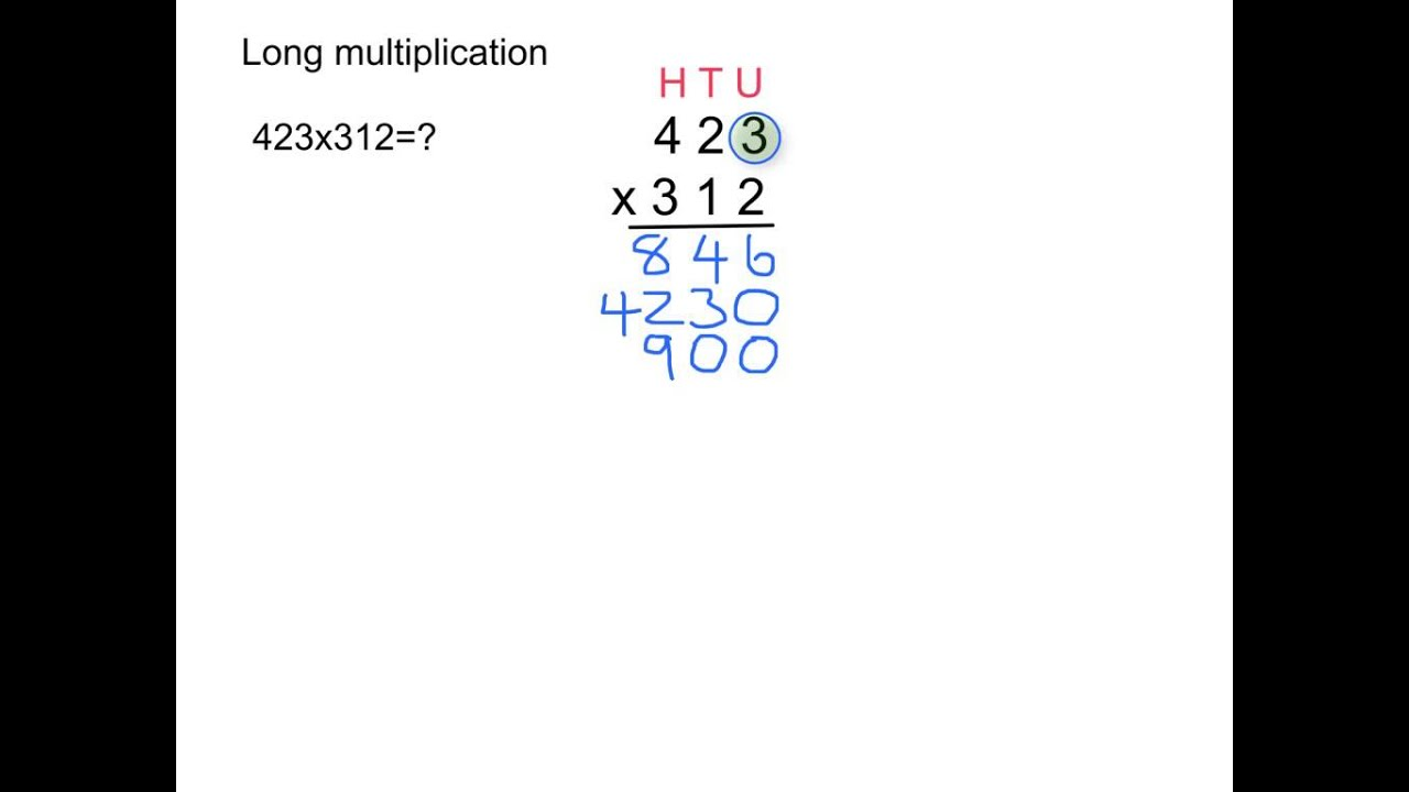 Long Multiplication With 3 Digit Numbers