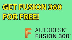 How To Get A Legitimate Full Version Of Fusion 360 Free. 2020