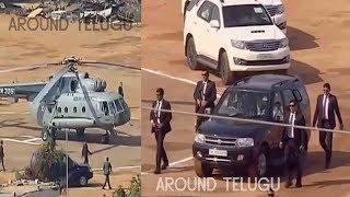 బేగంపేట్ నుంచి మియాపూర్ కి మోడీ హెర్లికాఫ్టర్ ప్రయాణం...Narendra Modi Helicopter Landing..Convoy