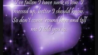 Fallen Lyrics Sarah McLachlan