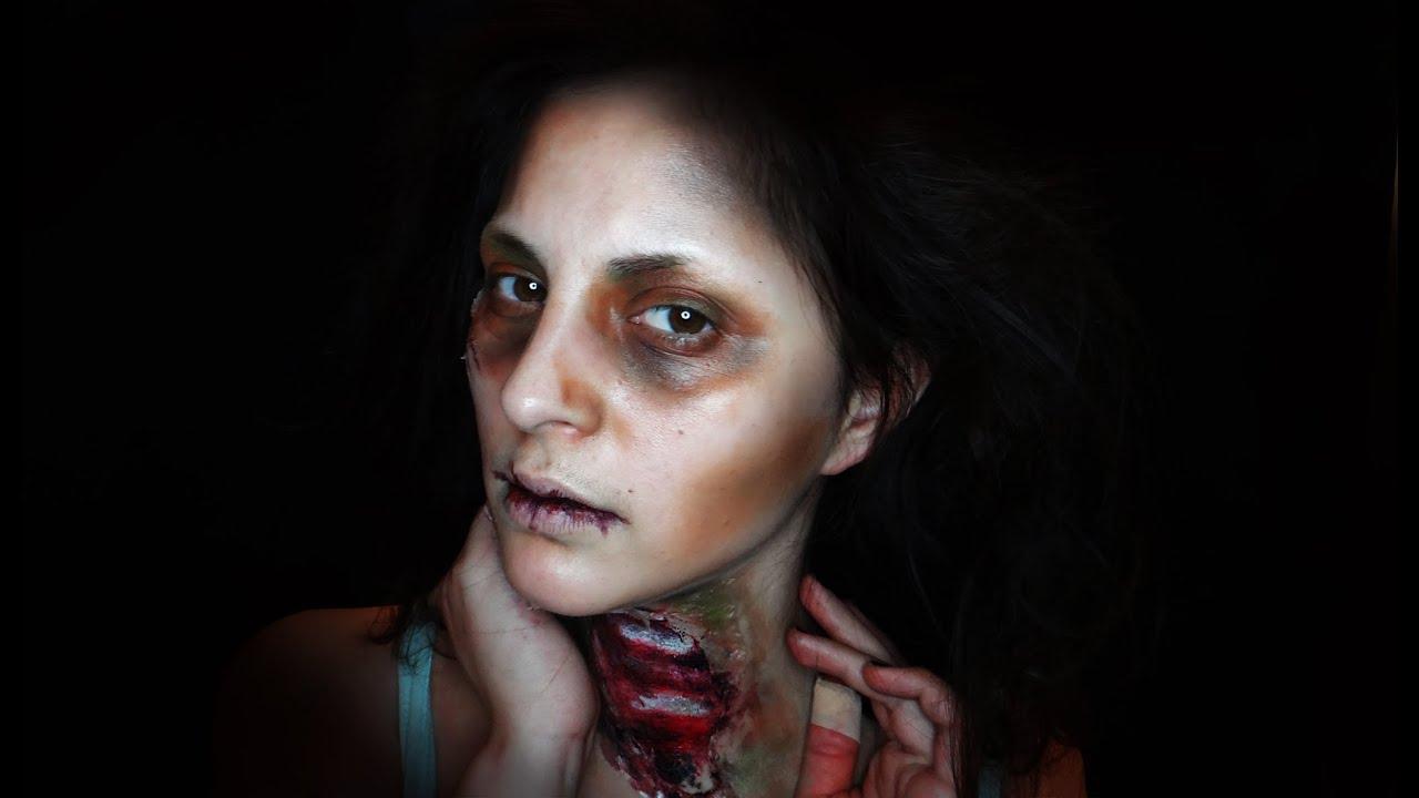 maquillaje facil de zombie