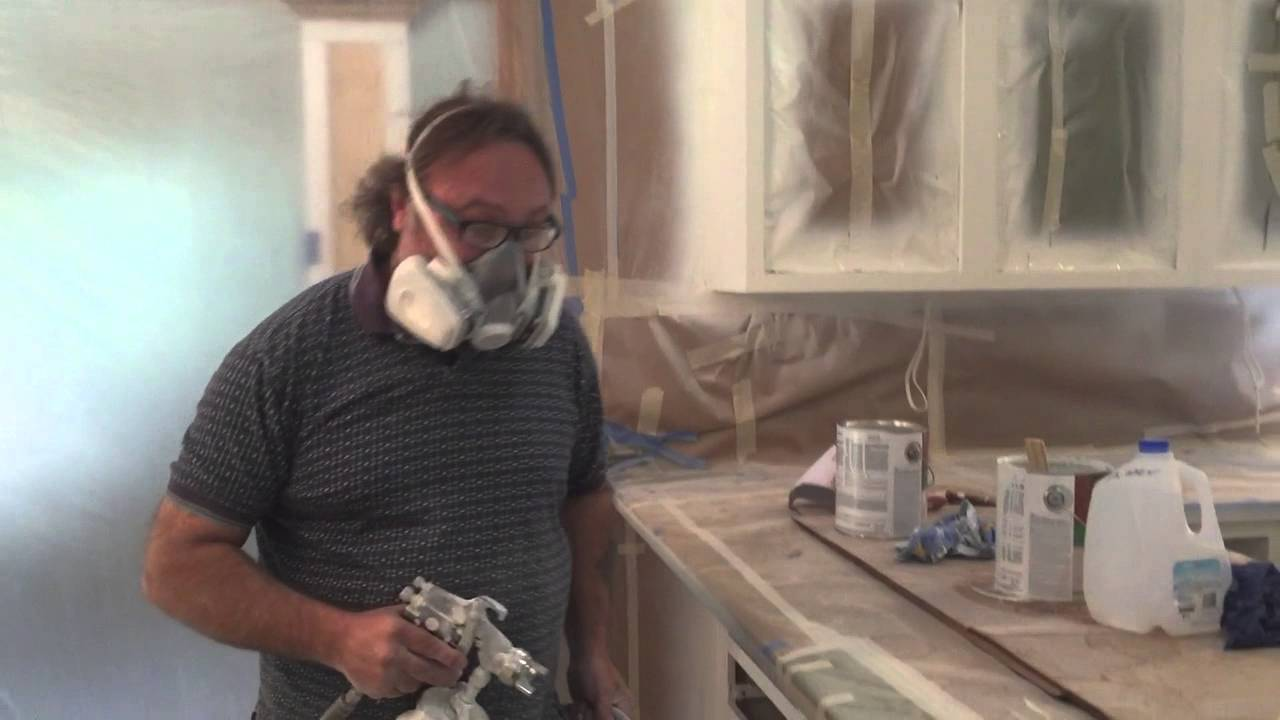 painting oak kitchen cabinets in white dove - youtube