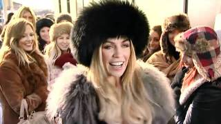 Abbey Clancy joins hundreds of girls in the queue to get her hands on the new Lynx for girls!