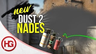 TOP NEW DUST 2 NADES AND SMOKES - YOU NEED TO KNOW!