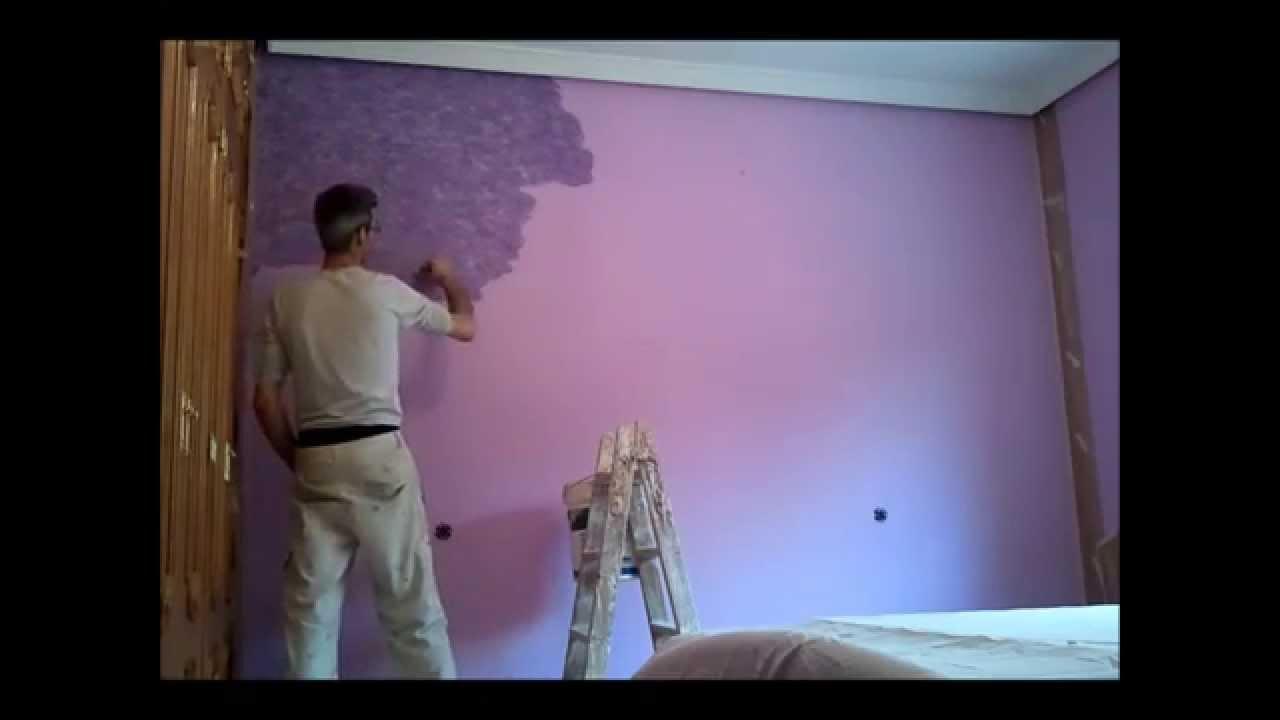 Como aplicar tierras florentinas moradas con malva youtube for Pintura color berenjena