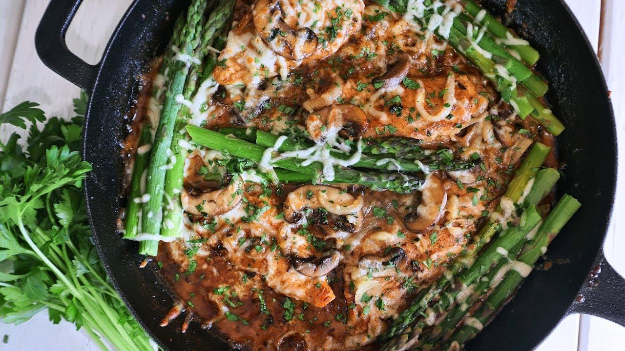 Keto Creamy Chicken Mushrooms Amp Asparagus Episode 159 Youtube